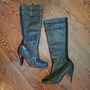 Cole Haan Tall Black Leather Boots